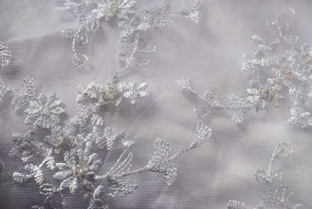 bead embroidery: Wedding dress background detail