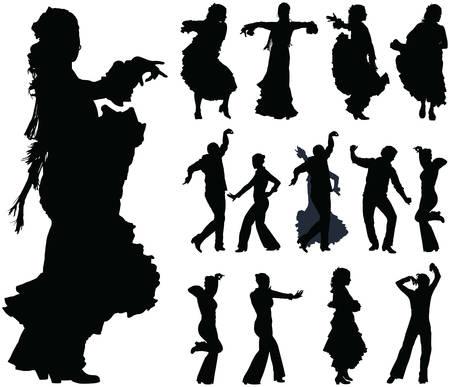 folklore: Flamingo spanish dance over ten poses