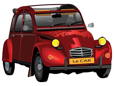 Franc�s coches hist�ricas famosas Vectores