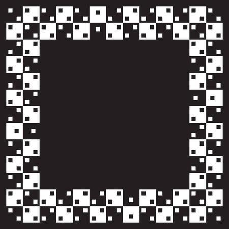 deceptive: Pleinen zijn dezelfde grootte maar illusie van niet parallelle lijnen zichtbaar is. Wanneer de afbeelding kleiner is is vervormd meer zichtbaar.  Stock Illustratie