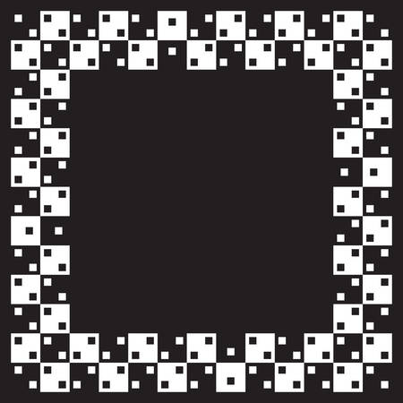 Squares are same size but illusion of non parallel lines is visible. When image is smaller distorsion is more visible. Vector