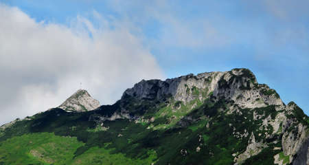 giewont: Giewont mountain hill above Zakopane. View from south.Tatra National Park.