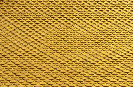 Golden roof texture from Chengde buddhist temple in China. photo