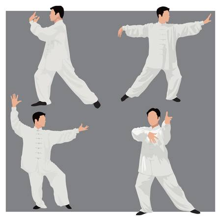 tai chi: four forms of tai-chi.