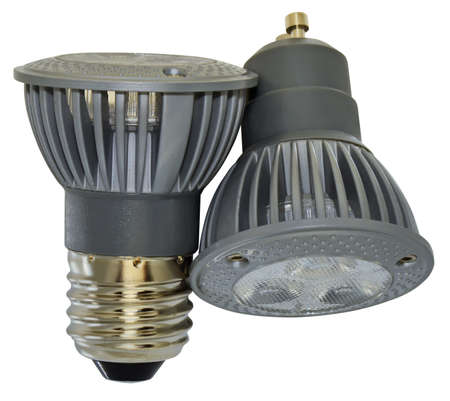 Two power led spotlights with different mount