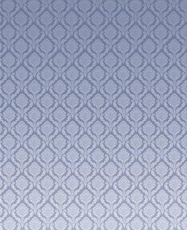 Ornamented wallpaper  Floral design blue gray illustration Stock Vector - 12856929