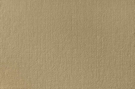 Beige canvas texture wallpaper. Close up photo.