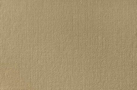 cloth fiber: Beige canvas texture wallpaper. Close up photo.