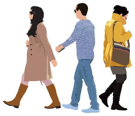 Small group of young people casual style  Separated persons    Stock Vector - 13005523