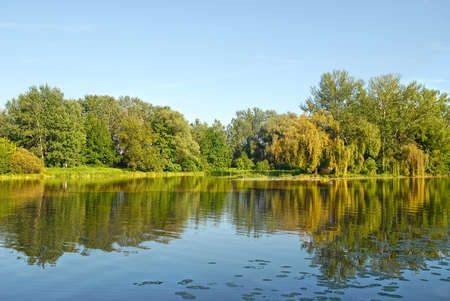 Royal park area in Wilanow near Warsaw.