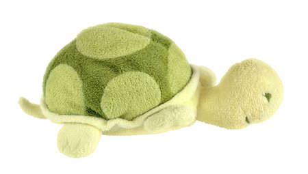 Turtle soft toy isolated on white with path Stock Photo - 19382868