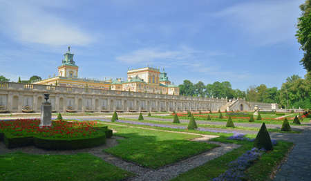 royal park: Royal Castle in Wilanow Stock Photo