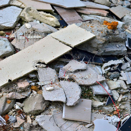 rubble: Stack of rubble after home renovation