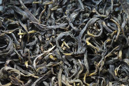 stimulant: Tea dry leaves extreme macro image Stock Photo