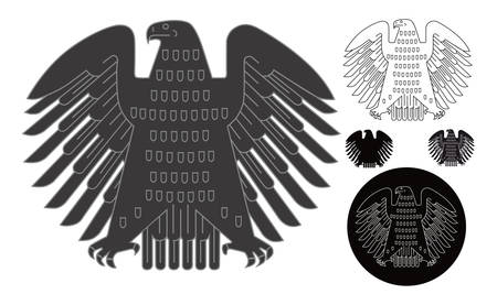 German emblem as vector image. Isolated on white. Few versions choice.