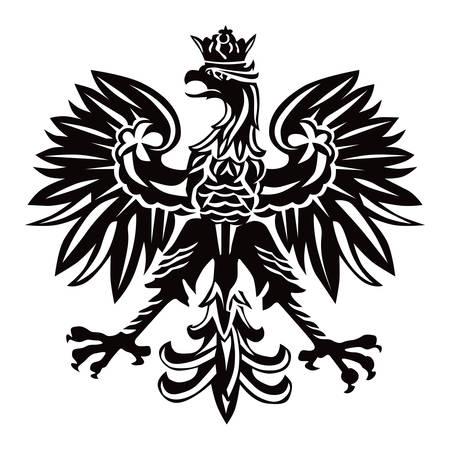 Polish national emblem as vector illustration on white background.