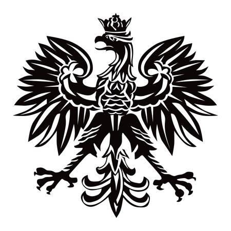 Polish national emblem as vector illustration on white background.