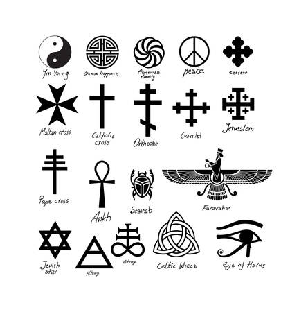 Almost twenty vector signs. From egyptian ancient till more recent. European, oriental and from Egypt and ancient Persia.