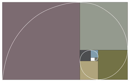 Golden ratio as vector color illustration in neutral colors.