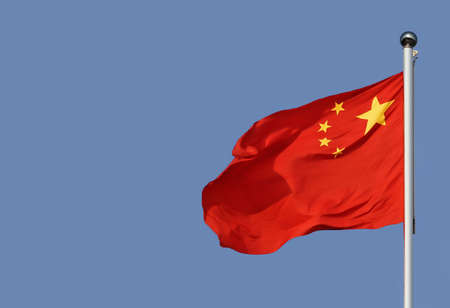 Red chinese flag from Tienanmen