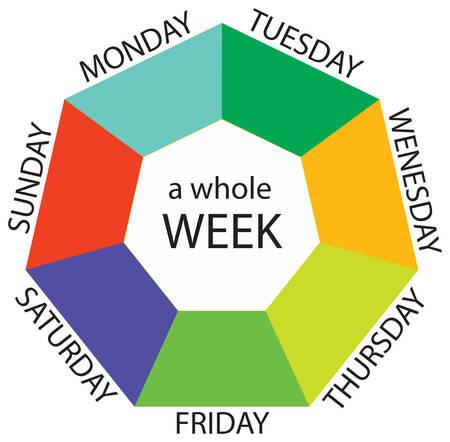 Entire week illustration Иллюстрация
