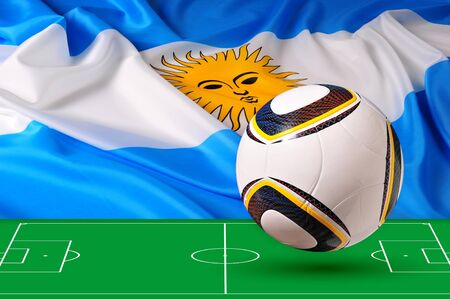 Photo of the flag of Argentina photo