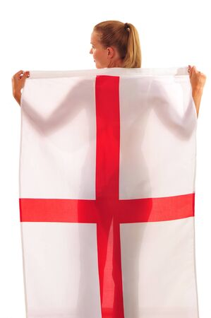 England football Fan with st. George Flag photo