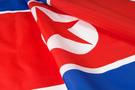Flag of North Korea  photo
