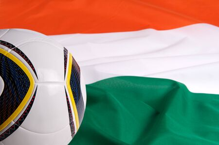 Italy National Flag and a soccer ball photo
