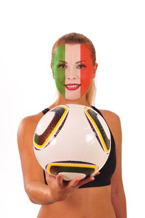World Cup 2010 - Italy fan holding Soccer-ball photo