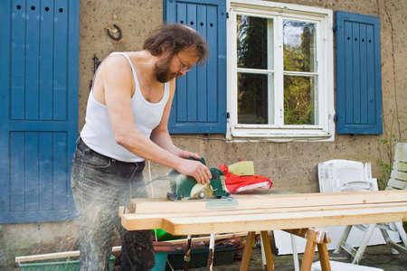 sawing: sawing