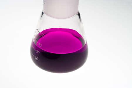 erlenmeyer: Erlenmeyer flask in laboratory