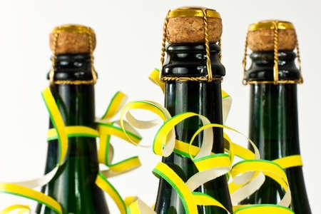 champagne bottles photo