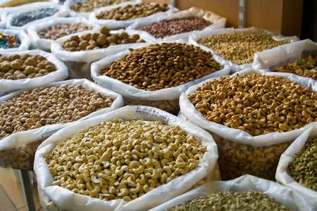 Nüsse auf einem orientalischen Basar in Oman Standard-Bild - 5790291