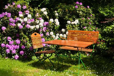 Seat in a garden photo