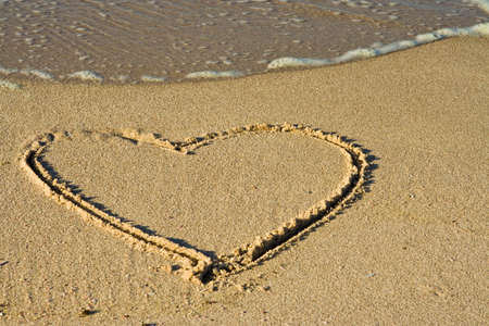 heart in sand Stock Photo - 7037616