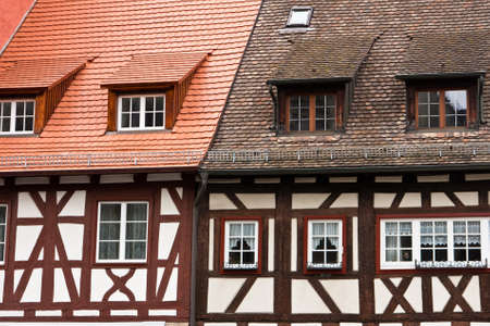 roof framing: half-timbered houses