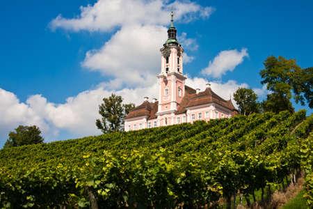 peregrinación: Iglesia de peregrinaci�n Birnau, lago de Constanza, Alemania
