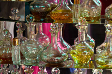 Flacons in a Perfumery photo