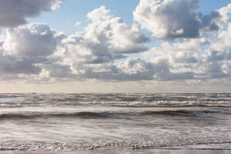 width: Waves at the North Sea Stock Photo
