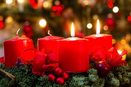 kerze: Adventskranz zum 2. Advent