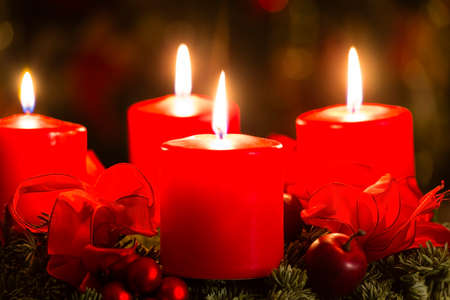 advent candles: advent wreath for 4. advent