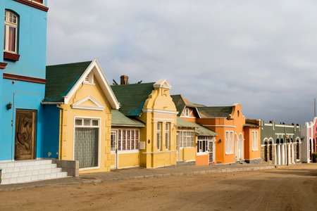 southern africa: historical houses in L?deritz, Namibia, southern Africa