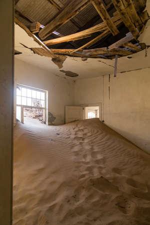 kolmannskuppe: abandoned houses in the ghost town Kolmanskop, Namibia
