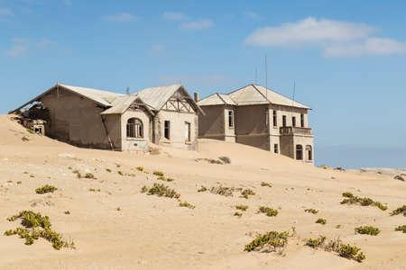 kolmanskop: abandoned houses in the ghost town Kolmanskop, Namibia