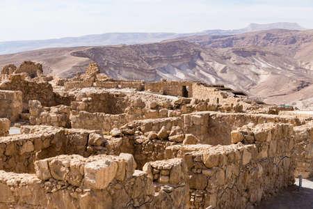 judaean: Masada and view to the jedaean desert, Israel