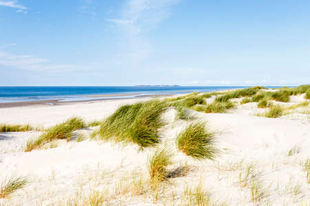 beach with dunes on Amrum, North Frisian Island, Germany Stock Photo