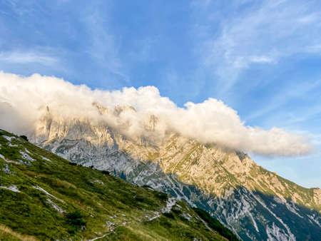 kaiser mountains (Wilder Kaiser) in the alps, tyrol, austria