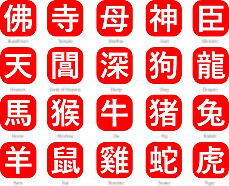 Chinese Words text vector with meanings