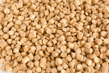 Wood Pellets background. An alternative way to produce energy.